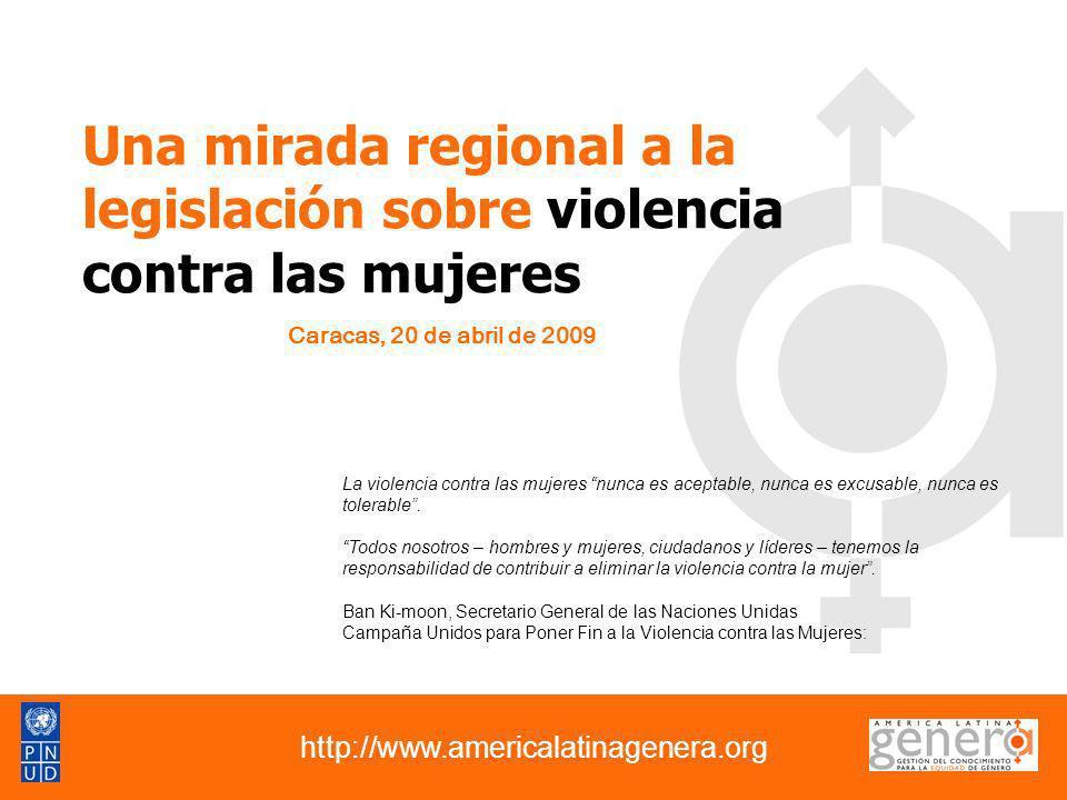 Una mirada regional a la legislación sobre violencia contra las mujeres