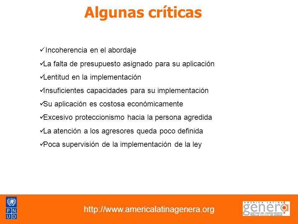 Algunas críticas http://www.americalatinagenera.org