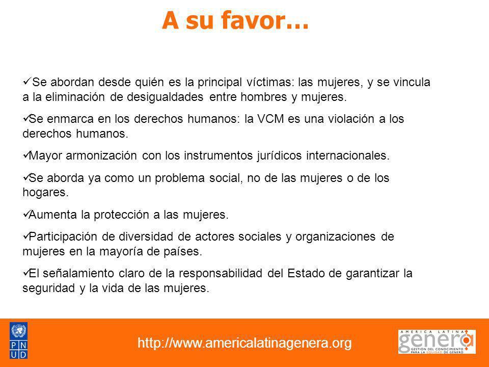 A su favor… http://www.americalatinagenera.org