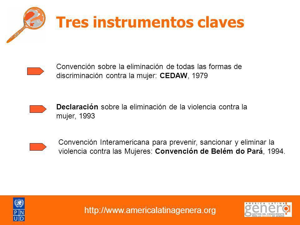 Tres instrumentos claves