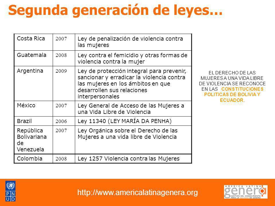 Segunda generación de leyes…