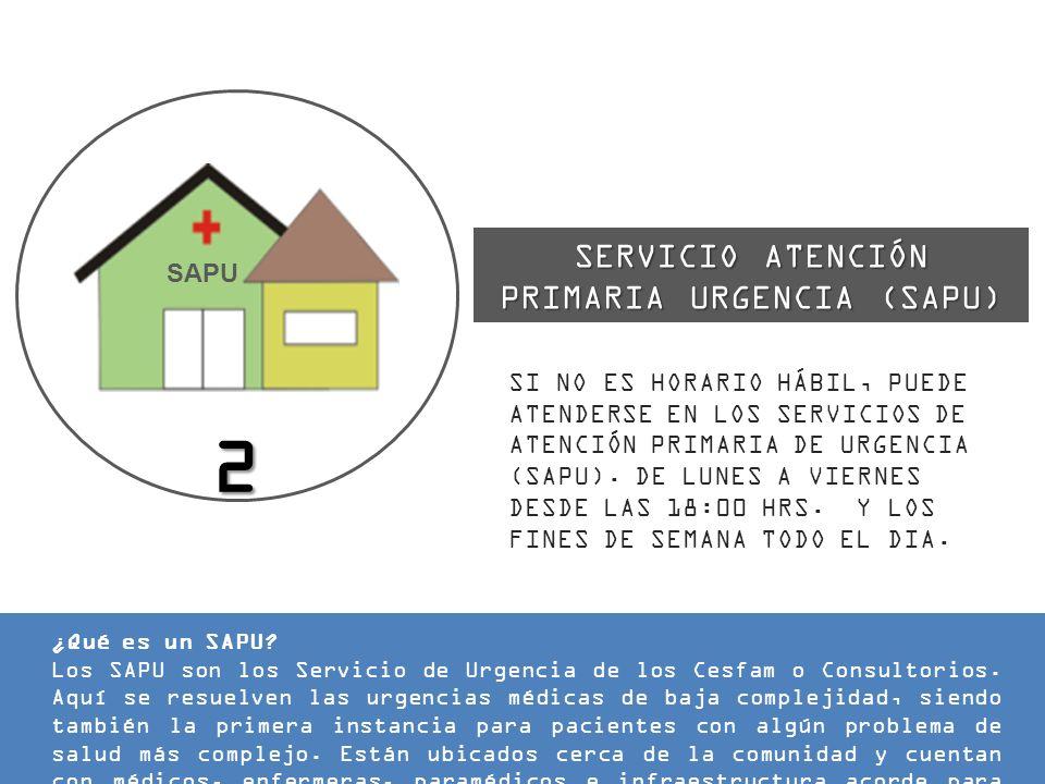 SERVICIO ATENCIÓN PRIMARIA URGENCIA (SAPU)
