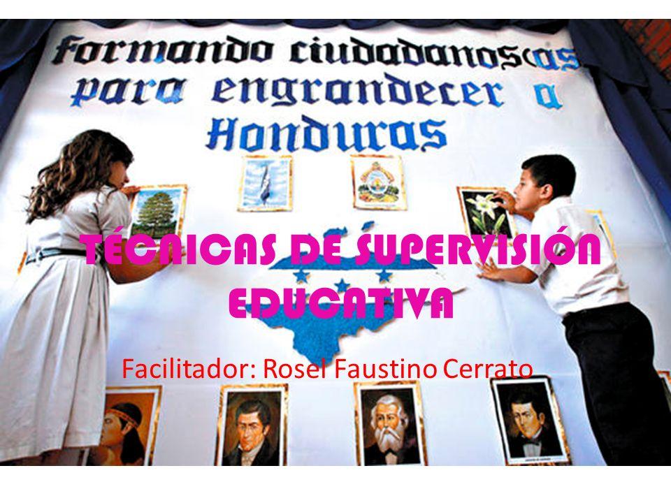 TÉCNICAS DE SUPERVISIÓN EDUCATIVA