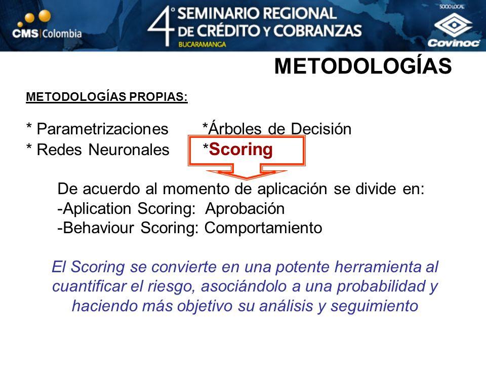 METODOLOGÍAS * Parametrizaciones *Árboles de Decisión