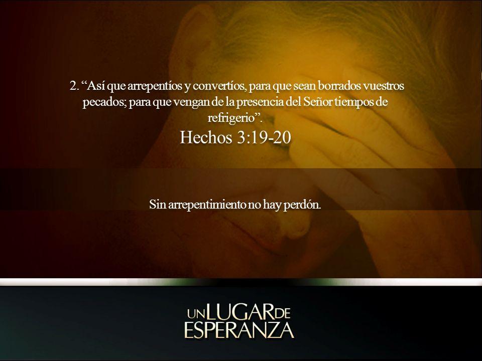 Sin arrepentimiento no hay perdón.