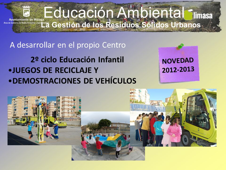La Gestión de los Residuos Sólidos Urbanos 2º ciclo Educación Infantil