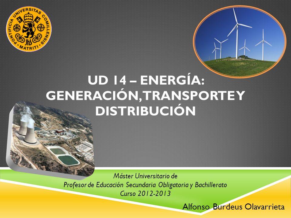 UD 14 – ENERGÍA: GENERACIÓN, TRANSPORTE Y DISTRIBUCIÓN