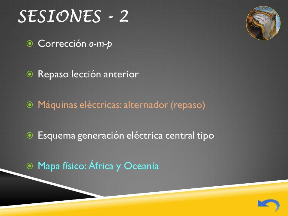 SESIONES - 2 Corrección o-m-p Repaso lección anterior