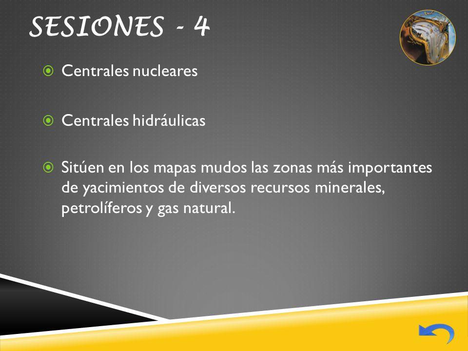 SESIONES - 4 Centrales nucleares Centrales hidráulicas