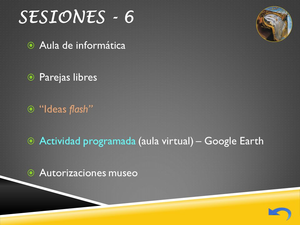 SESIONES - 6 Aula de informática Parejas libres Ideas flash