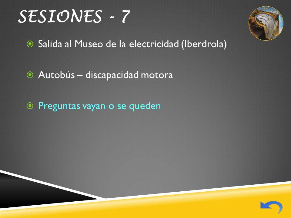 SESIONES - 7 Salida al Museo de la electricidad (Iberdrola)