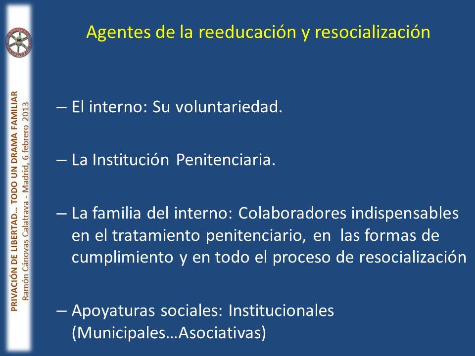 Agentes de la reeducación y resocialización
