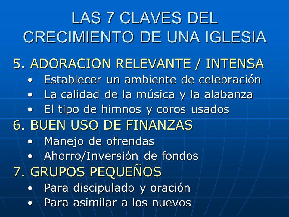 LAS 7 CLAVES DEL CRECIMIENTO DE UNA IGLESIA