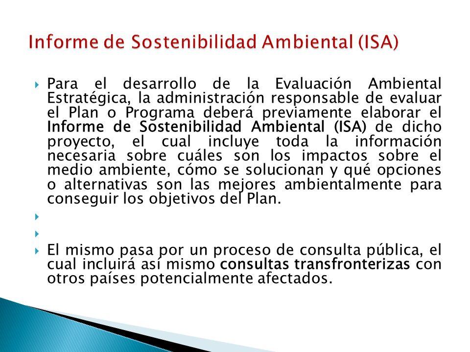 Informe de Sostenibilidad Ambiental (ISA)