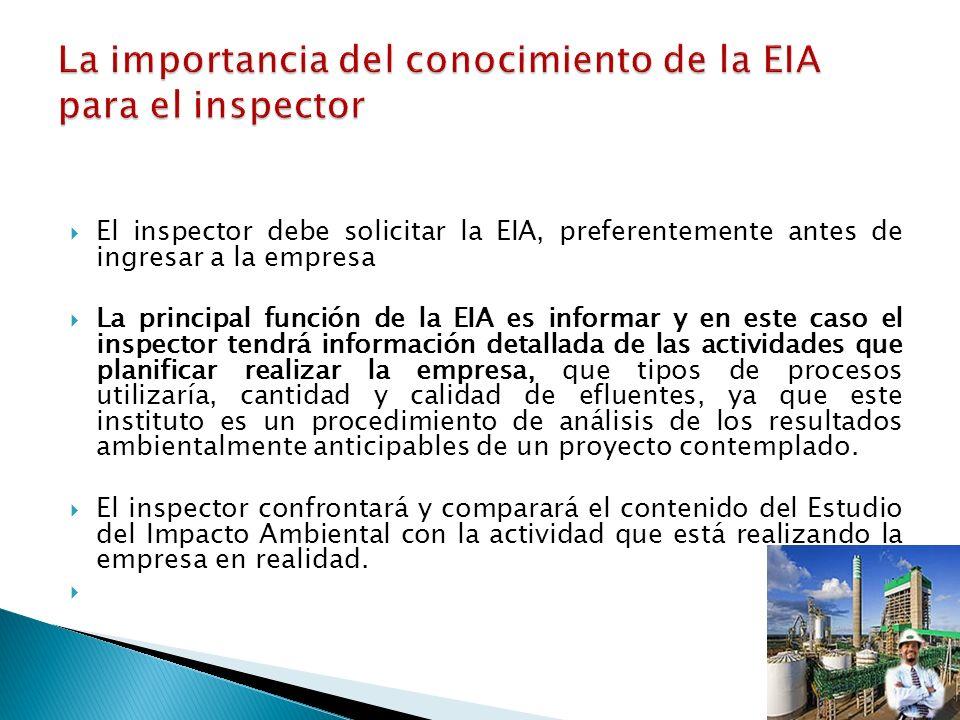 La importancia del conocimiento de la EIA para el inspector