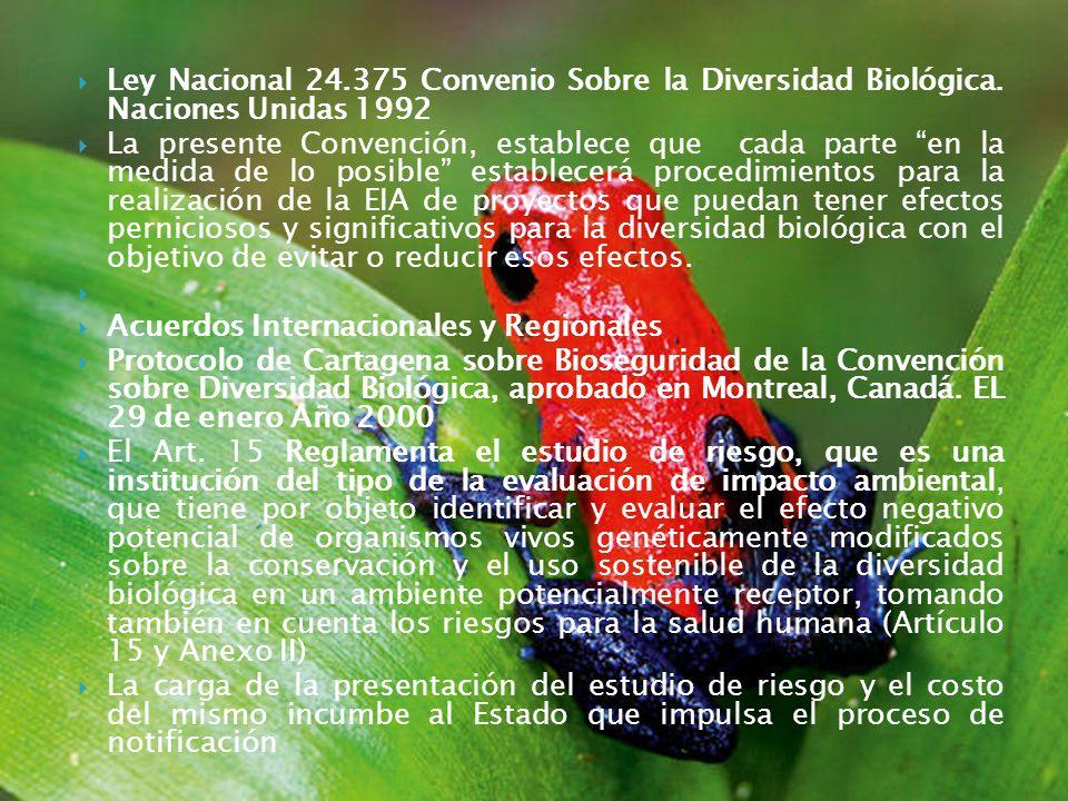 Ley Nacional 24. 375 Convenio Sobre la Diversidad Biológica