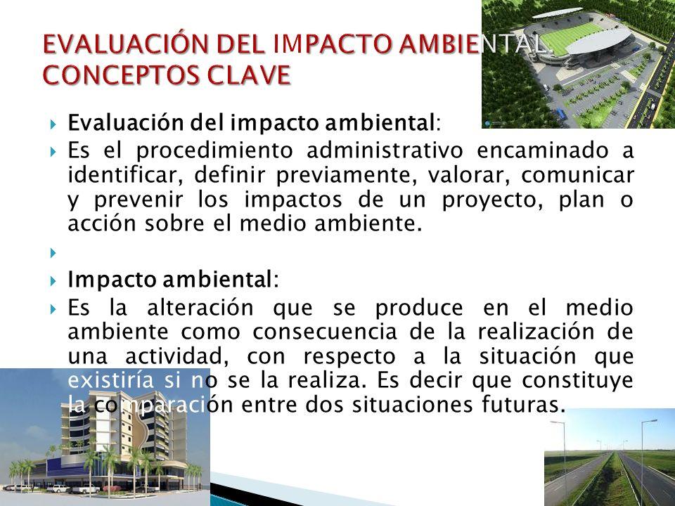 EVALUACIÓN DEL IMPACTO AMBIENTAL. CONCEPTOS CLAVE
