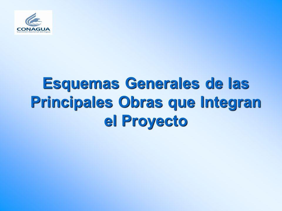Esquemas Generales de las Principales Obras que Integran el Proyecto