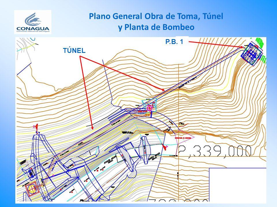 Plano General Obra de Toma, Túnel