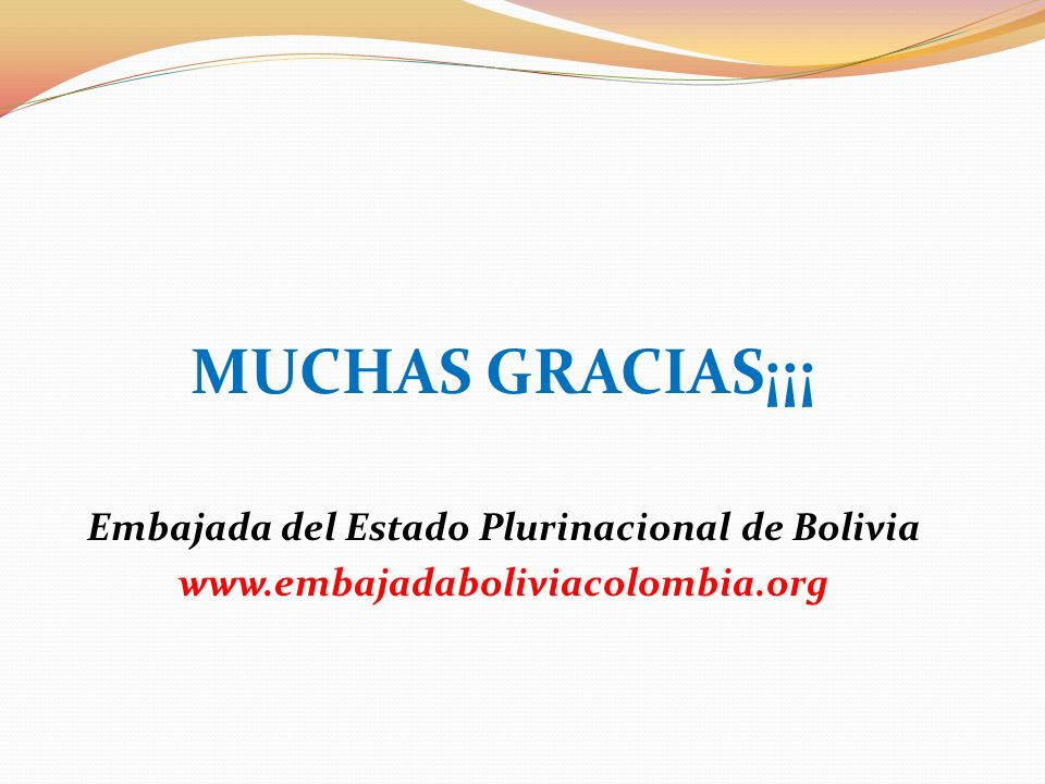 Embajada del Estado Plurinacional de Bolivia