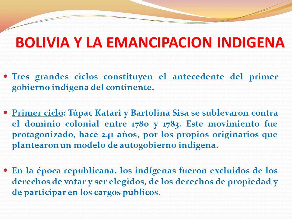 BOLIVIA Y LA EMANCIPACION INDIGENA