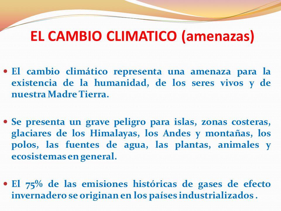 EL CAMBIO CLIMATICO (amenazas)