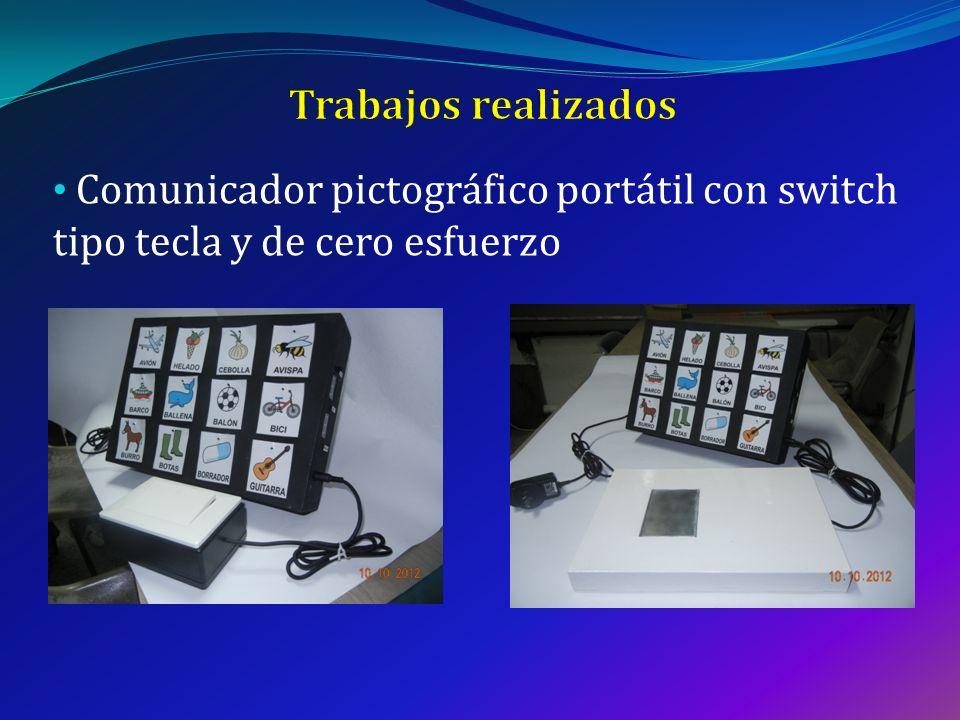 Trabajos realizados Comunicador pictográfico portátil con switch tipo tecla y de cero esfuerzo