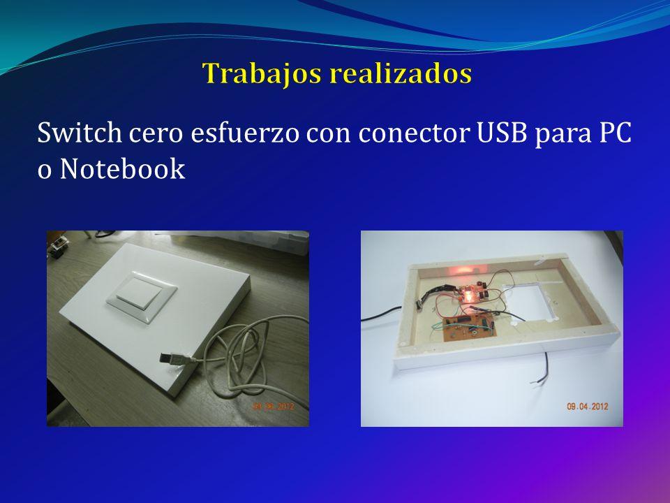 Trabajos realizados Switch cero esfuerzo con conector USB para PC o Notebook