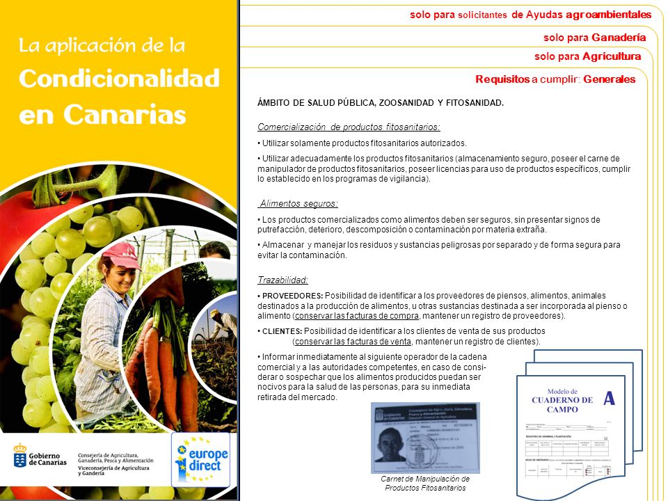 La Aplicación de la Condicionalidad en Canarias