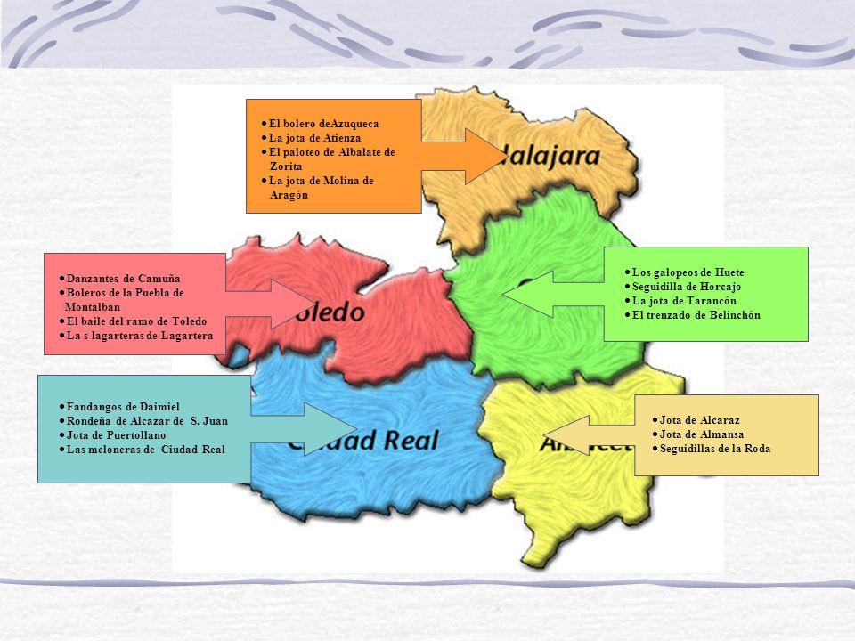 El paloteo de Albalate de Zorita La jota de Molina de Aragón