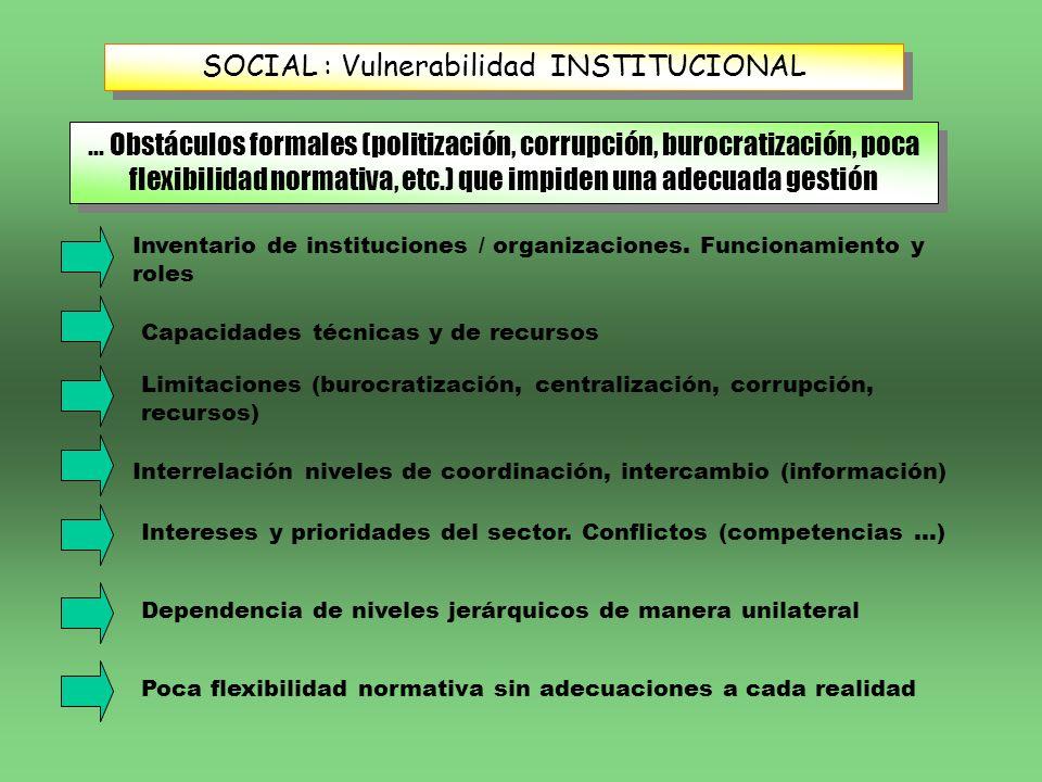 SOCIAL : Vulnerabilidad INSTITUCIONAL