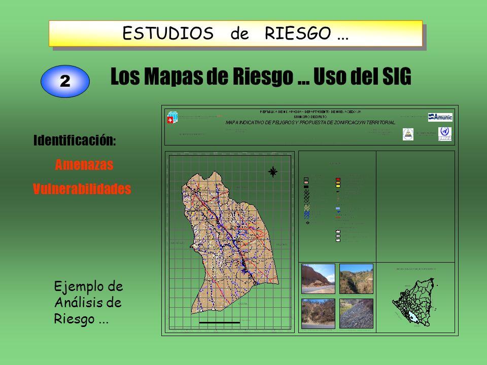 Los Mapas de Riesgo ... Uso del SIG