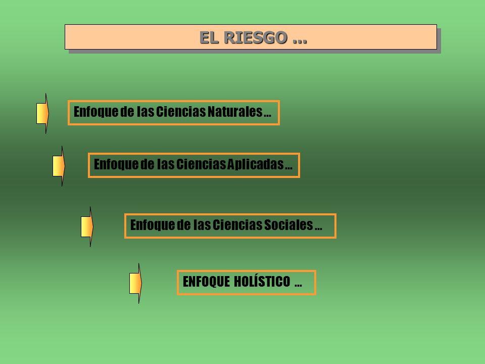 EL RIESGO ... Enfoque de las Ciencias Naturales ...