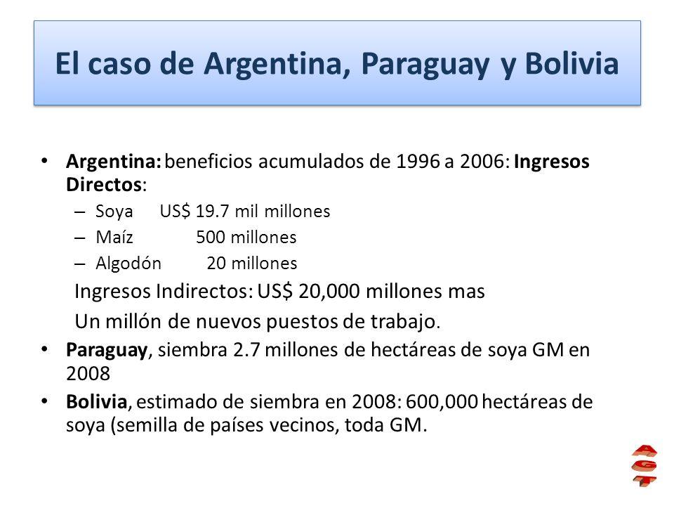 El caso de Argentina, Paraguay y Bolivia