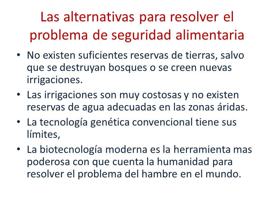 Las alternativas para resolver el problema de seguridad alimentaria