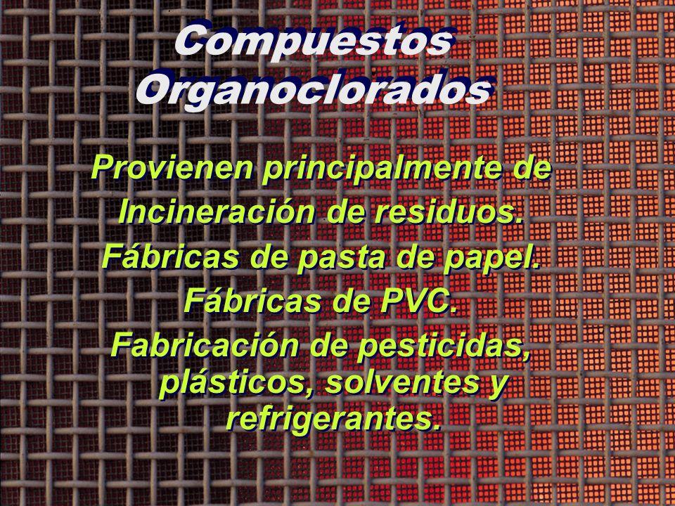 Compuestos Organoclorados
