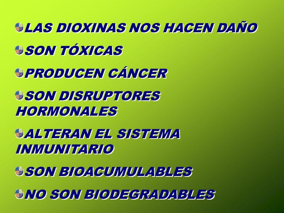 LAS DIOXINAS NOS HACEN DAÑO