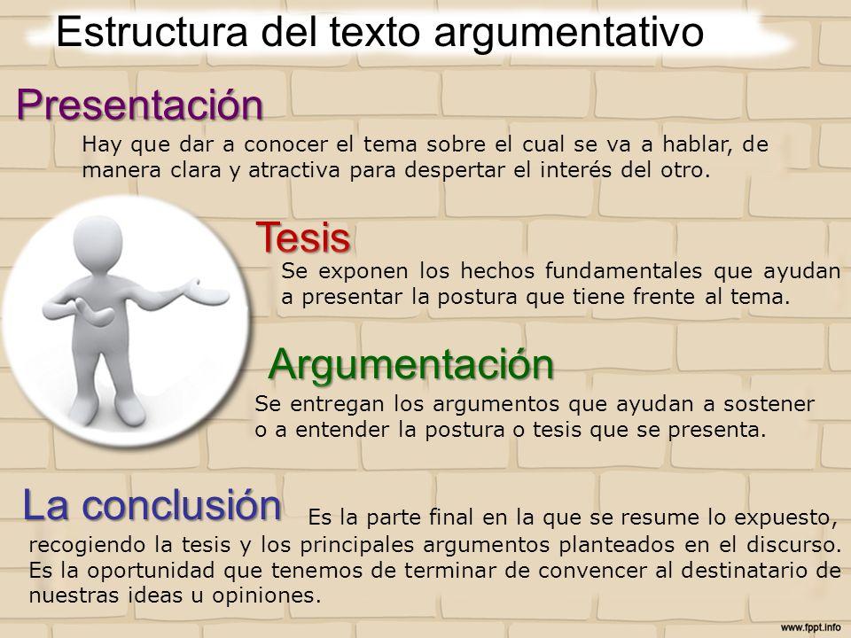 Estructura del texto argumentativo