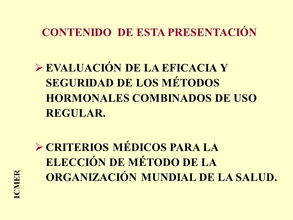 CONTENIDO DE ESTA PRESENTACIÓN