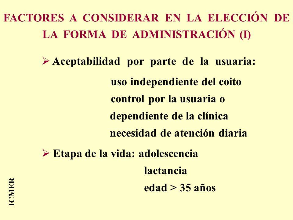 FACTORES A CONSIDERAR EN LA ELECCIÓN DE LA FORMA DE ADMINISTRACIÓN (I)