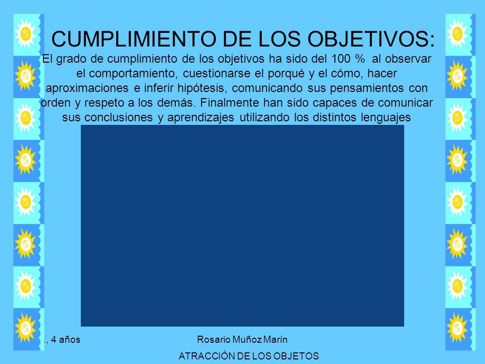 CUMPLIMIENTO DE LOS OBJETIVOS: