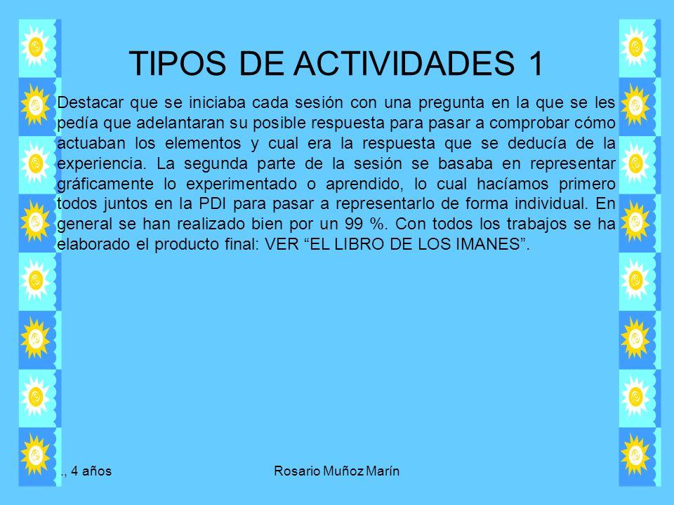 TIPOS DE ACTIVIDADES 1