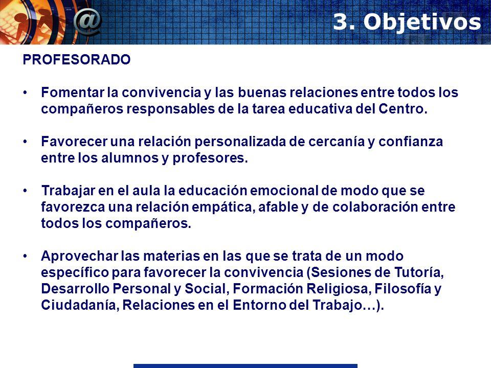 3. Objetivos PROFESORADO