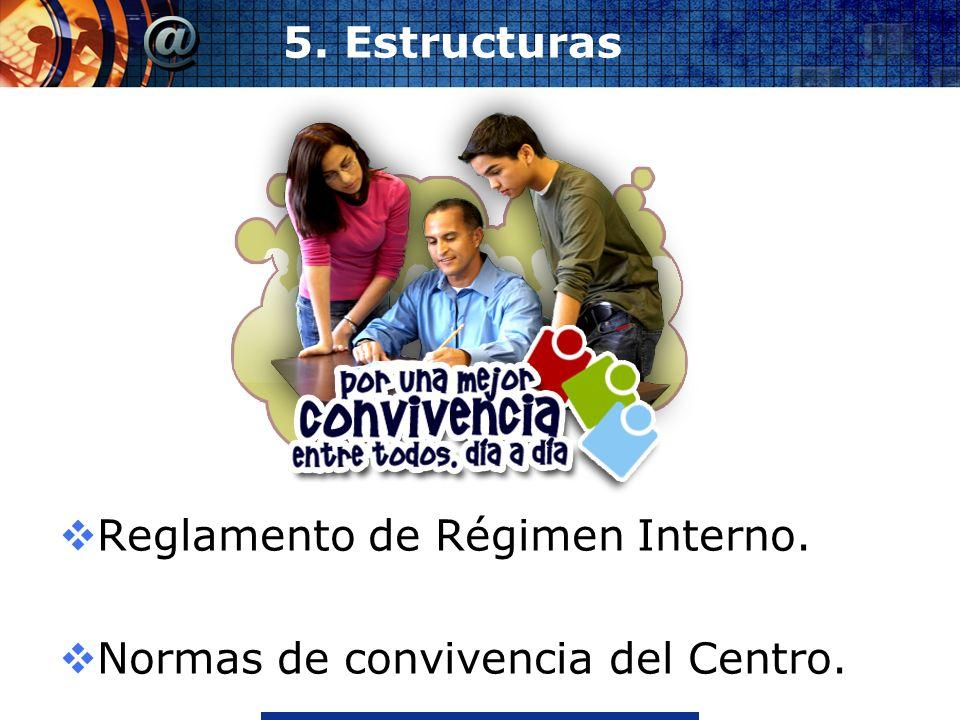 Reglamento de Régimen Interno. Normas de convivencia del Centro.