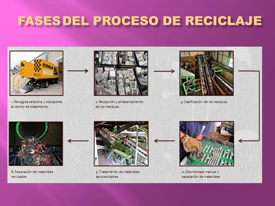 Fases del proceso de reciclaje