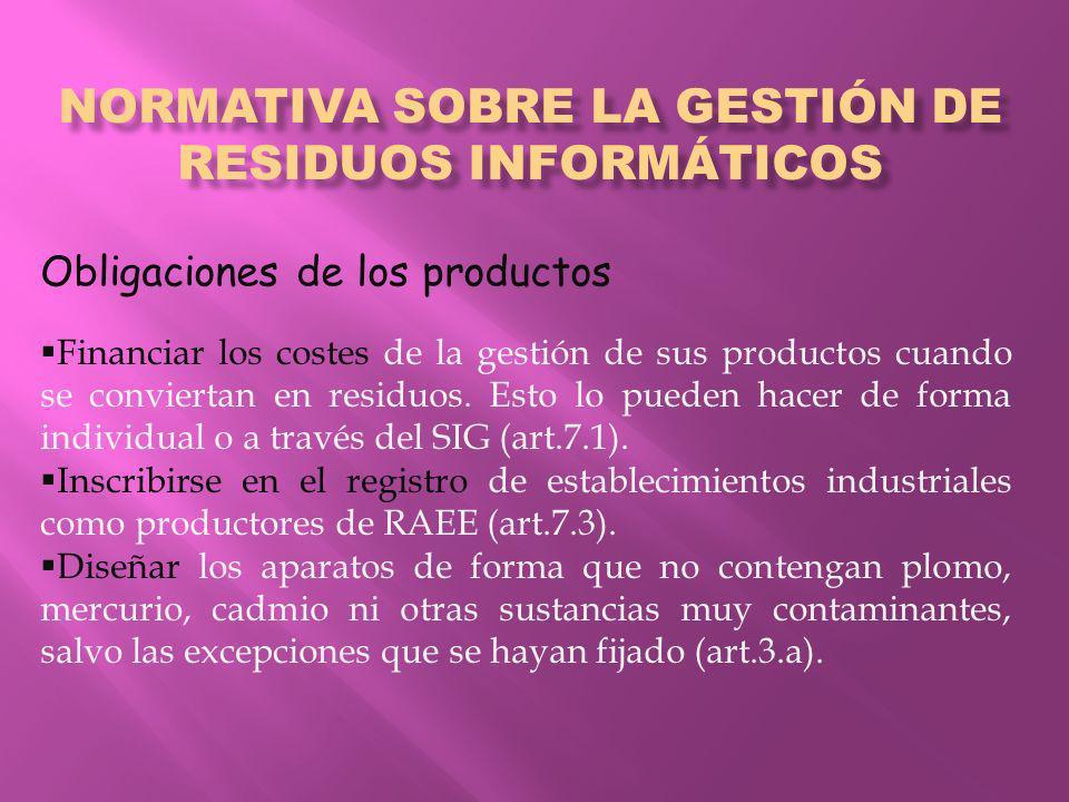 Normativa sobre la gestión de residuos informáticos