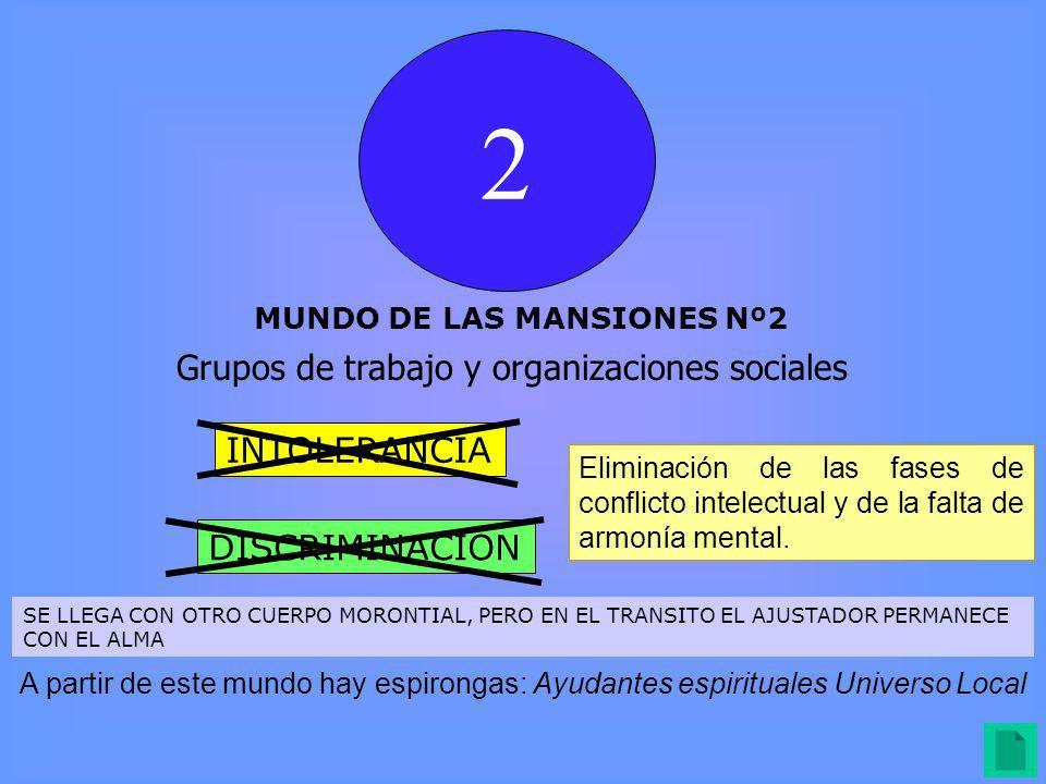 2 Grupos de trabajo y organizaciones sociales INTOLERANCIA