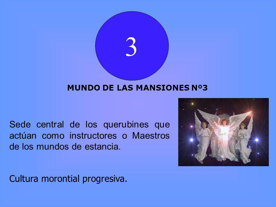 3 MUNDO DE LAS MANSIONES Nº3. Sede central de los querubines que actúan como instructores o Maestros de los mundos de estancia.
