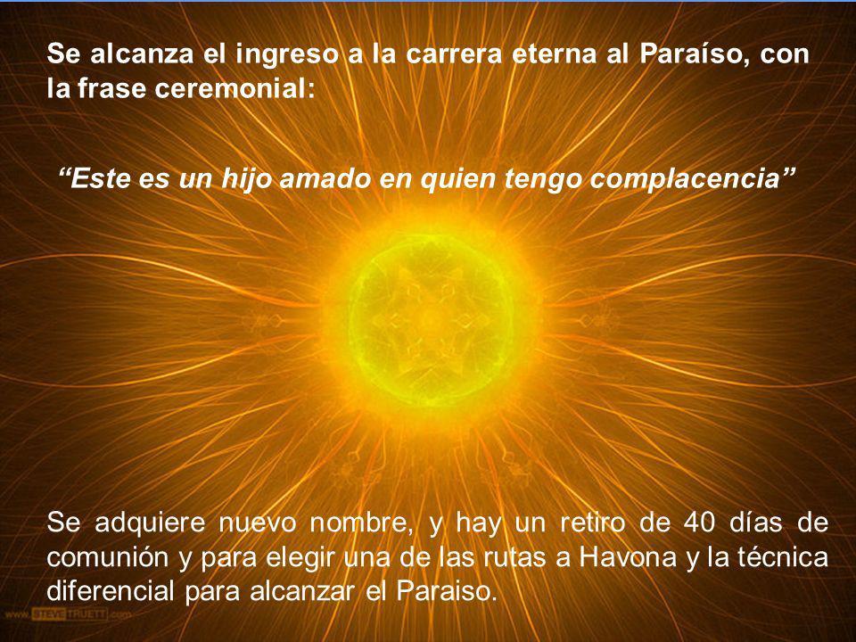 Se alcanza el ingreso a la carrera eterna al Paraíso, con la frase ceremonial: