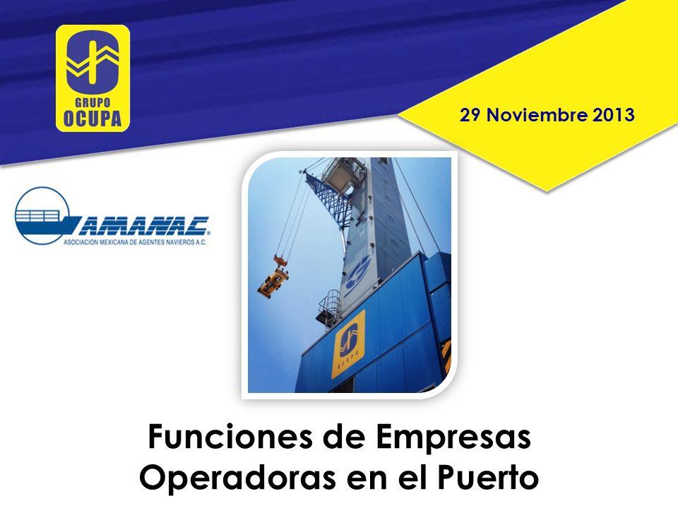 Funciones de Empresas Operadoras en el Puerto